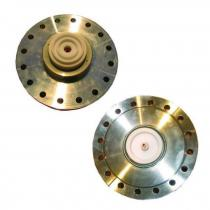 Flange CF100 with ceramic insert, High voltage contact