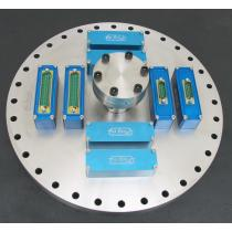 Flange CF250 with 1 x CF40 and 8 x Modules F