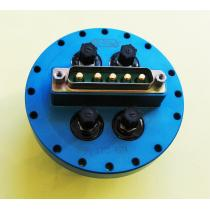 Special Flange for 4 Optic Fiber & 1 x DSub 5W5 Power