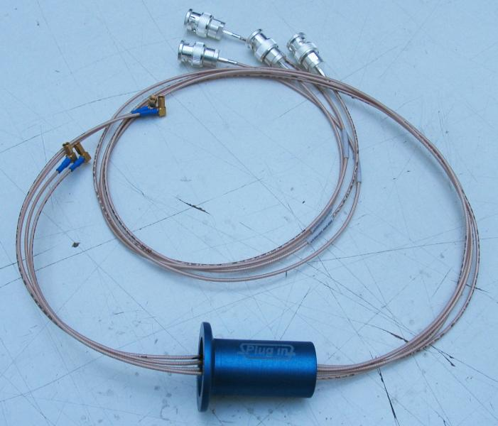 Wired Flange KF25 with 4 x Coax